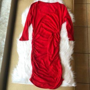 Women's Express red 3/4 length sleeve dress small